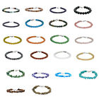 Multi-Stone Multi-Color .925 Sterling Clasp Bead/Chip Strand Bracelets Choose 1