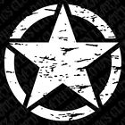 "1-Single 17"" Distressed Freedom Star Decal Oscar Mike Jeep Mudding Military 4x4"