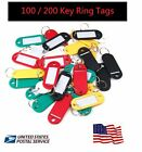 100 200 Key Ring Tags Plastic Assorted ID Coloured Key Keyring Fobs CHOOSE COLOR