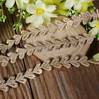 1/2/5 Yards Gold Vintage Embroidered Edge Lace Trim Sewing Craft Applique Ribbon