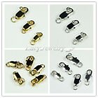 100pcs Silver /gold Plated Copper Lobster Claw Clasps Findings 10/12/14mm pick
