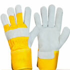 10 Pairs Canadian Leather Rigger Work Gloves Heavy Duty Plam Safety Gauntlets