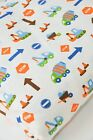 Cute Children's Brushed Cotton Fabric Construction Building Site Digger