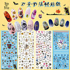 Halloween Nail Art Stickers Water Transfer Decal Nail Tips Decoration Party Prom