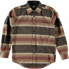 PENDLETON L/S FITTED LODGE SHIRT BROWN ACADIA PARK STRIPE