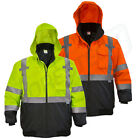 Внешний вид - Hi-Vis Insulated Safety Bomber Reflective Jacket ROAD WORK HIGH VISIBILITY