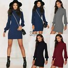 Women Winter Warm Sweater Turtleneck Long Sleeve Skinny Knitted Office TXST