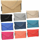 Women Louis Suede Velvet Leather Envelope Ladies Evening Party Prom Clutch Bag