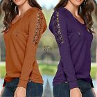 New Womens Long Sleeve Loose Knitted Sweater Ladies Casual Jumper Tops Casual