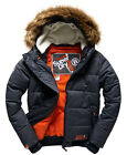 New Mens Superdry Winter Sports Puffer Jacket Navy Marl