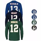"""NFL MAJEStic """"Eligible Receiver"""" Player Jersey Long Sleeve T-Shirt Collection"""