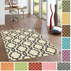 "Rubber Back Non-Slip Fancy Moroccan Trellis 3'4"" x 5' Area Rug"