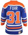 Grant Fuhr Edmonton Oilers Mitchell  Ness Authentic 1986 Blue NHL Jersey