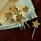 6pcs Glitter Star Cupcake Toppers Twinkle Star Baby Shower Birthday WeddingParty