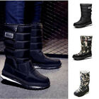New Men's Boys Winter Warm Fur Lined Snow Joggers Snow Boots Plush Camouflage K