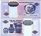 ANGOLA 100,000 100000 KWANZA 1995 P 139 AUNC LITTLE TEAR