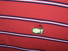 """Large Masters Collection """"Augusta National"""" Golf Polo Shirt ORANGE STRIPES LNC"""