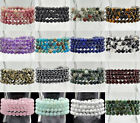 6mm Natural Gemstone Round Beads Stretchy Prayer Yoga Buddha Mala Bracelet 26""