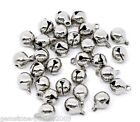 Wholesale HOT! Silver Tone Christmas Bells Charm Pendants 11x8mm