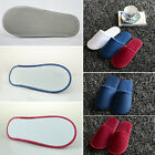 5~20 PAIRS TOWELLING HOTEL SLIPPERS ClOSED TOE TERRY SPA GUEST DISPOSABLE NEWEST