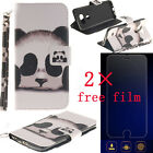 Fashion Panda Pattern Leather Card Flip Wallet Skin Case Stand  For LG&free Film