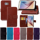 Flip Magnetic Stand Card Floral Leather wallet+TPU Case For Samsung Varies phone