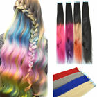 20'' PU Tape in Weft Remy Real Straight Human Hair Extension Dip Dye Ombre 10pcs