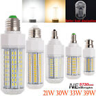 Energy Saving 21W - 39W E12 E14 E26 E27 B22 5730 SMD LED Corn Bulb White Lights