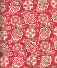 LAUREL & MAYFAIR WINTER BIRD RED & IVORY SNOWFLAKE BEDSKIRT DUST RUFFLE: Q,K image