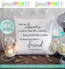 """16""""X16"""" PERSONALISED GIFT CUSHION AUNTIE SISTER CHRISTMAS MOTHERS DAY BIRTHDAY"""