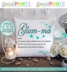 "16""X16"" PERSONALISED CUSHION NOUN GLAM-MA GRANDMOTHER NAN CHRISTMAS MOTHERS GIFT"