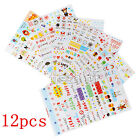 6 / 12 Cute Album Scrapbook Calendar Diary Planner Card Stickers DIY Decoration