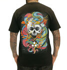 SULLEN JAMES VAUGHN DRAGON SKULL COLOURFUL TATTOO ARTIST BLACK T SHIRT S-3XL NEW