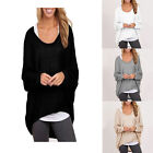 Plus Size Women Long Sleeve Pullover Jumper Tops Lady Casual Loose Sweater Shirt