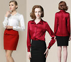Women's Ladies 30MM 100% Pure Silk Business Career Dress Formal Shirt Blouse Top