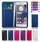 Book Wallet PU Leather Case Cover For Oppo Phones + Screen Protector & Stylus