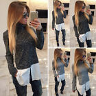 Fashion New Womens Loose Long Sleeve Casual T Shirt Tops Blouse Sweater Size S-L