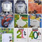 Young Kids Boys Birthday Party Invitation Invites Sheets & Envelopes Pack