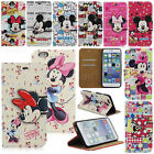 Disney Mickey Minnie Mouse Leather Wallet Case For iPhone 6 6Plus 7 7Plus +Film