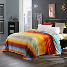 New Floral Blanket Double/Queen Size Bed Linen Super Soft Lush Comforter Flannel