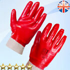 24 Pairs Red PVC Coated Dipped Knitted Wrist Work Safety Gloves Size XL / 10
