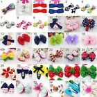 2 Pc Hair Clips Snaps for Girls Kids Baby Bow Hair Accessories 36 Designs-A