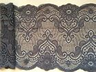 "NEW~Pretty Grey Soft Stretch Scalloped Lace 17cm/6.75"" Lingerie Trim Craft"