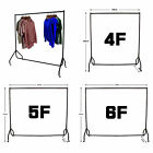 Clothes Garment Rail Dress Display Stand Rack Heavy Duty with Brake 3 4 5 6 FT