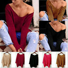 Womens Jumpers Dress Long Sleeve Tops Dipped Hem Mini Ladies Knitted Sweater New
