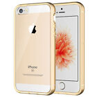 JETech Case for Apple iPhone SE 5S 5 Shock-Absorption Bumper Cover Clear Back