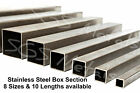 Stainless Steel SQUARE Box Section 8 Sizes & 10 Lengths to Choose From