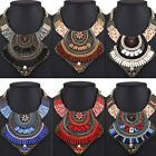 Fashion Women Bib Vintage Cloth Choker Chain Pendant Statement Necklace Jewelry