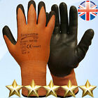 12 Pairs Anti Cut Resistant Level 3 PU Nylon Fiber Work Gloves Safety Protection