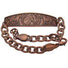 Solid Copper Bracelet Horse Head Handmade Western Jewelry Adjustable Chain Link